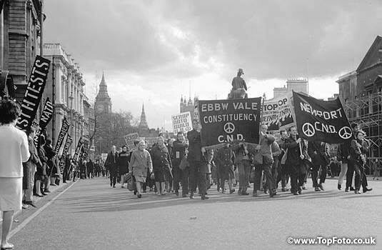 My first political excursion. The CND Aldermaston March reaches London, 1966