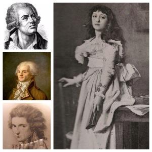 Danton, Robespierre, Desmoulin, and Manon Roland
