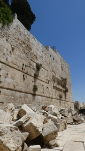 Herodian brickage thrown down bu the Romans