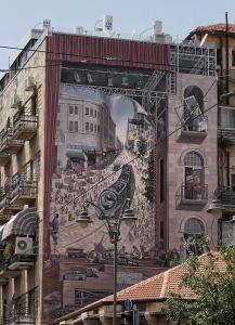 Light Rail Mural, Jaffa Road