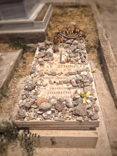 Oscar Schindler's grave, Mount Zion, Jerusalem