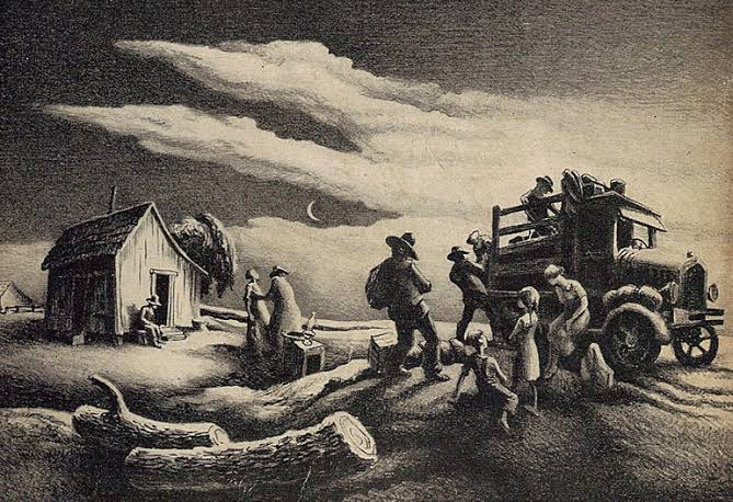 The last rains came gently – Steinbeck's dustbowl ballad